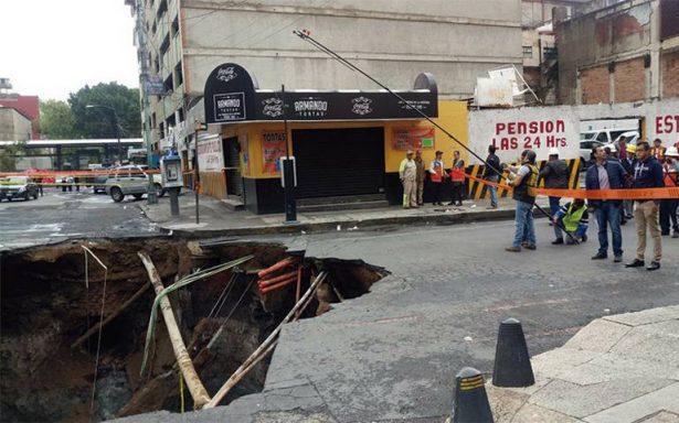 Costará cerca de 3.5 millones de pesos tapar el socavón del Centro
