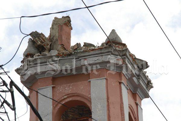 Intervenidos, el40 % de templos afectados en Puebla por terremoto