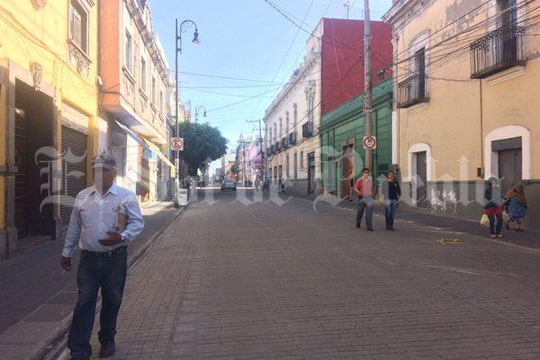 Normalizarán hasta el jueves la actividad comercial en el centro de Puebla