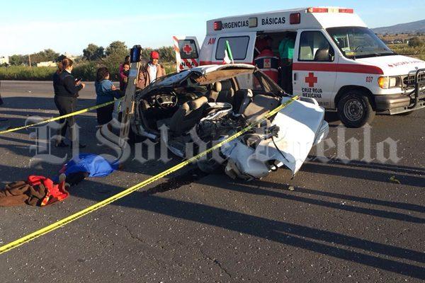 Un niño muerto y tres heridos, saldo de choque en la Puebla-Tehuacán