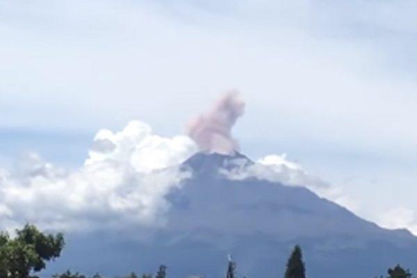 Investiga Cenapred causa de extraña fumarola del Popocatépetl durante el sismo