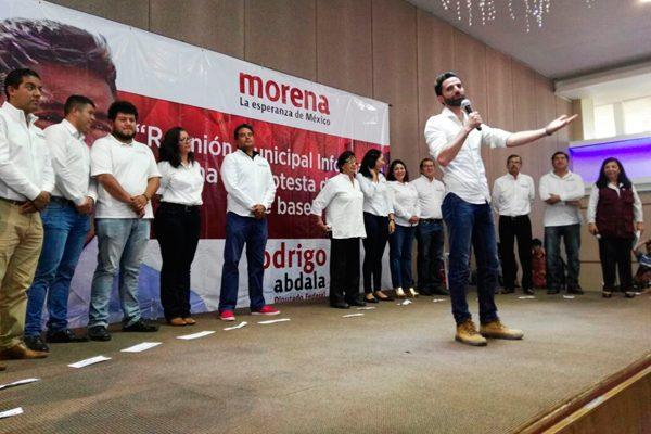 Reacciona Abdala y acelera paso para Coordinación Estatal de Morena