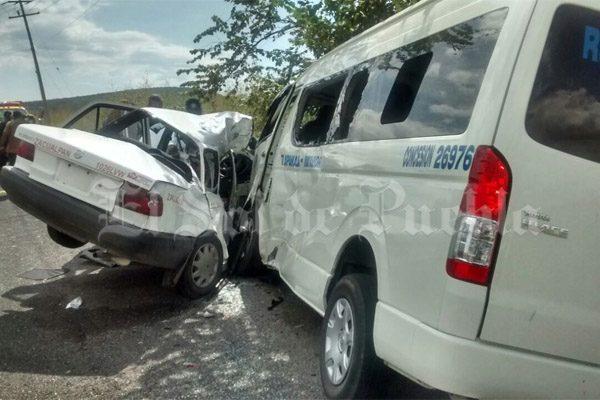 Un muerto y cuatro lesionados deja choque en carreteras