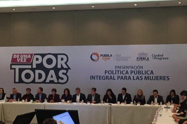 Presenta Gobierno de Puebla estrategia contra violencia a las mujeres