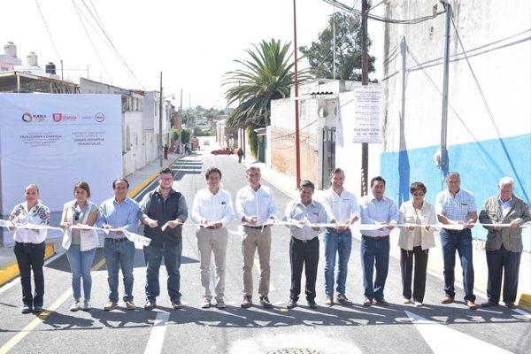 Inauguran Antonio Gali y José Juan obras con valor de 22 mdp en Cholula