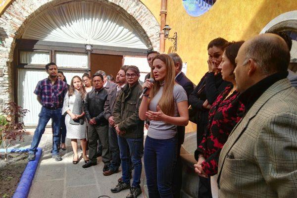 Presenta Cárdenas a Ángeles Navarro como aspirante independiente a la alcaldía de Puebla
