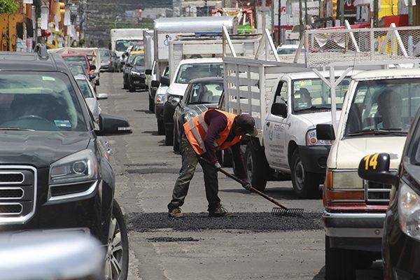 Suman más de 828 mil baches tapados en Puebla capital