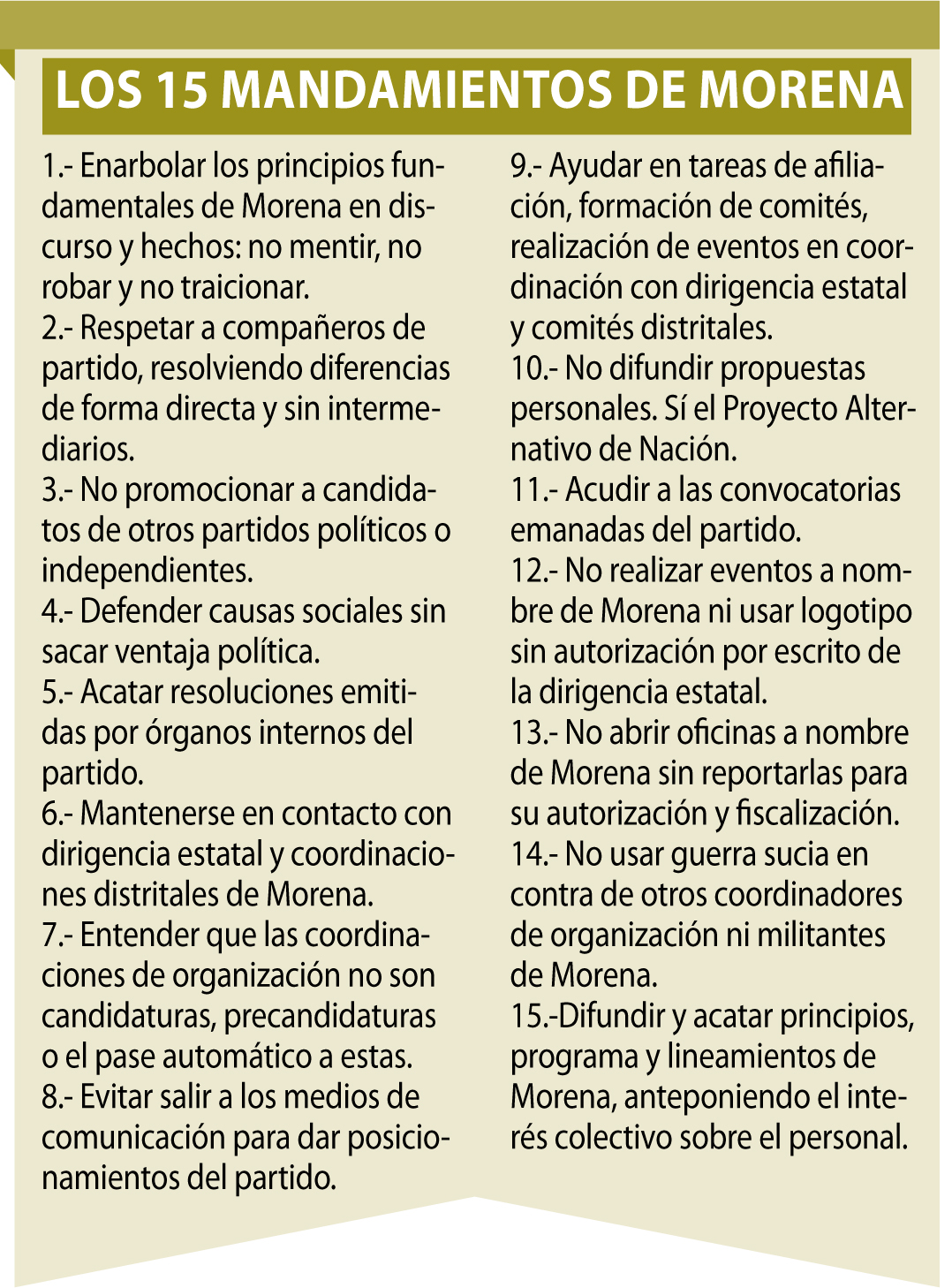 Decalogo Morena