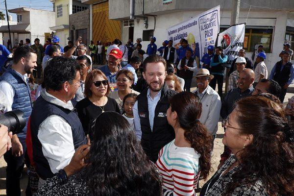 Inician pavimentación en calles  de la Unidad Satélite Magisterial