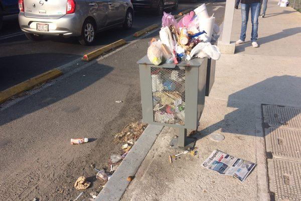 Acusan problemas de basura en bulevar Forjadores