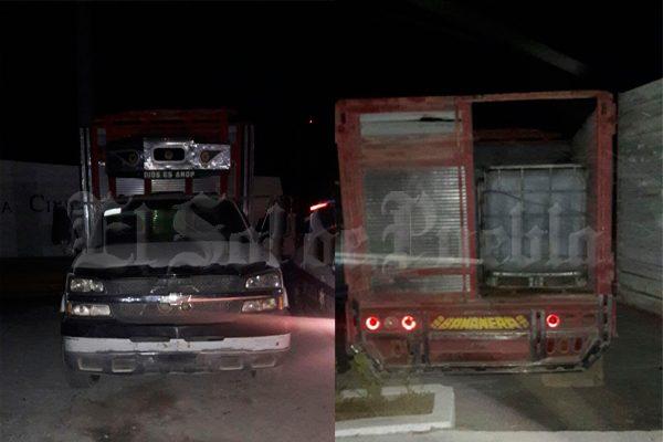 Aseguran camioneta con 4 mil litros de huachicol en Texmelucan