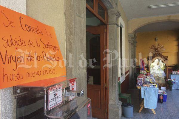 Suspenden regreso de la virgen de los Remedios a santuario de Cholula