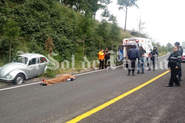 De un infarto, muere trabajadora de caseta de cobro en Atempan