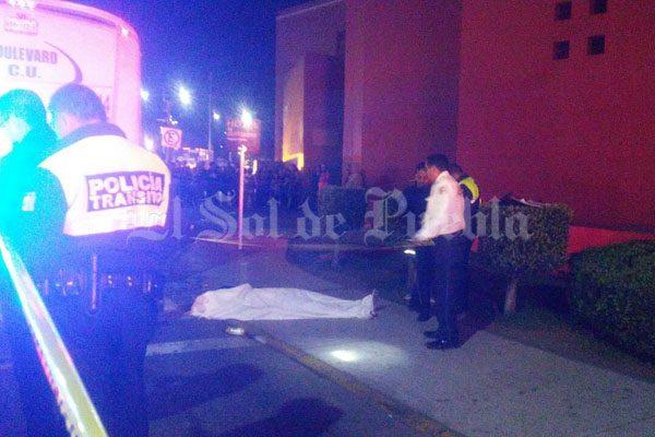 Ruta Boulevard atropella y mata a hombre sobre el bulevar 5 de Mayo