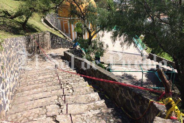 Detiene el INAH restauración en Pirámide de Cholula