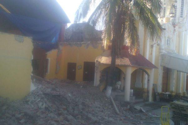 Por robo, suspenden reconstrucción del templo de Santiaguito en Izúcar