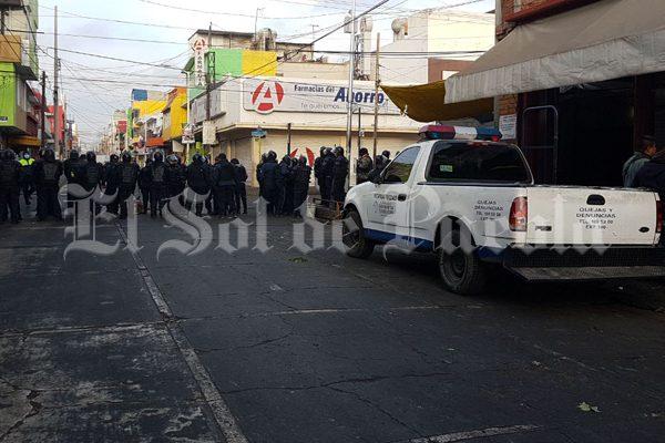 Realizan operativo en Texmelucan contra instalación de puestos ambulantes