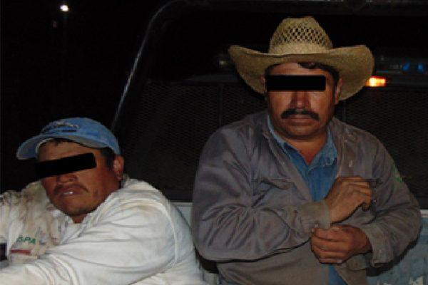 Detienen a dos presuntos talamontes en Huauchinango