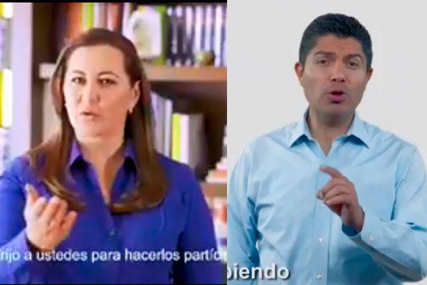Martha Erika y Eduardo Rivera hacen públicas sus aspiraciones en Puebla