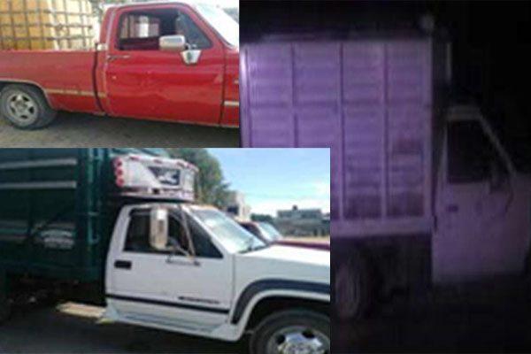 Aseguran 10 vehículos utilizados para el robo de combustible
