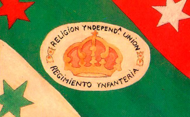 Primera bandera, encargo de Iturbide a un sastre de Iguala