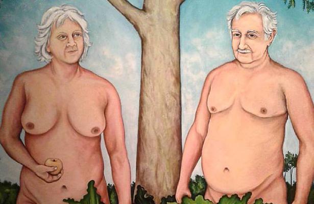 Retiran pintura que retrata a Mujica y a su esposa semidesnudos