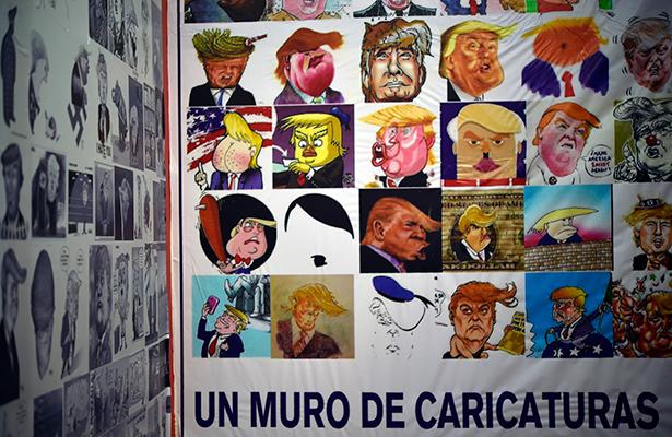 """Artistas mexicanos """"peinan"""" a Trump"""