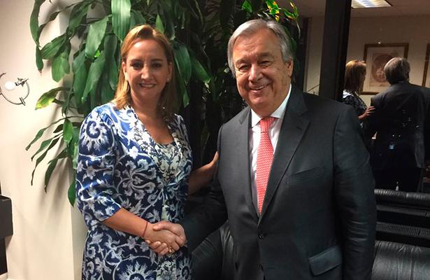 Se reúne Ruiz Massieu con el secretario electo de la ONU; revisan agenda