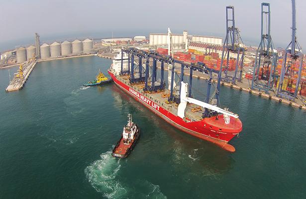 Dan a conocer avances en la ampliación del puerto de Veracruz