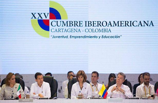El mayor activo de Iberoamérica es la juventud: Peña Nieto