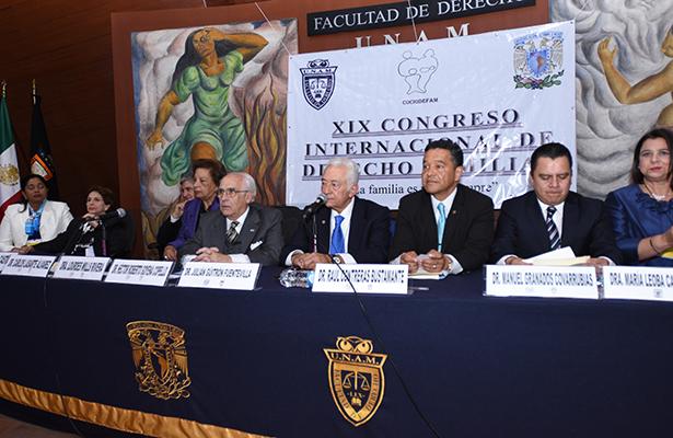 Inician actividades del  XIX Congreso Internacional  de Derecho Familiar