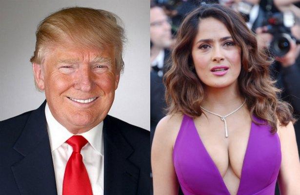 ¡Salma Hayek envía polémico saludo a Donald Trump!