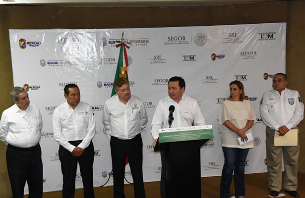 Osorio Chong atiende situación migratoria de Mexicali