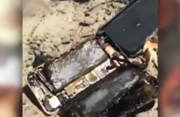 Un iPhone 7 se incendia y calcina vehículo