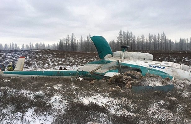 Se estrella helicóptero al norte de Rusia; mueren 19 personas