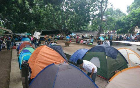De nuevo, Sección 22 instala plantón en el zócalo de Oaxaca