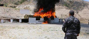 PGR incinera droga asegurada en la Ciudad de México