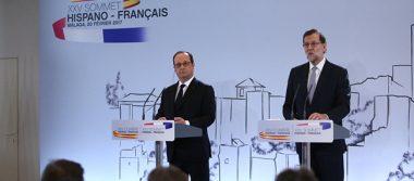 Coinciden Rajoy y Hollande en avanzar en la integración europea