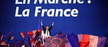 Macron en las puertas del poder en Francia tras ganar primera vuelta de elecciones