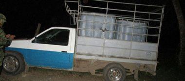 Aseguran seis autos y 14 mil litros de hidrocarburo en Huimanguillo