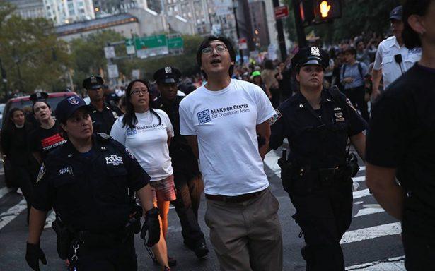 Más de 30 arrestados, entre ellos nueve mexicanos, por defender DACA en NY