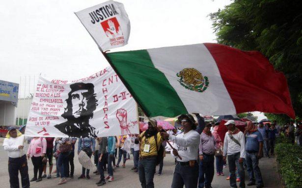 Maestros de la CNTE aseguran que no obstruyen recostrucción de escuelas