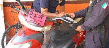 Operativo de revisión de motocicletas