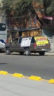 Roban camioneta en la zona centro