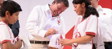 Encabeza MM inicio de la colecta pro Cruz Roja