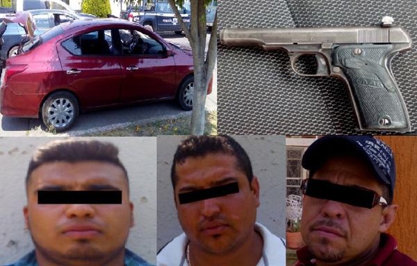 Detenidos con arma de fuego