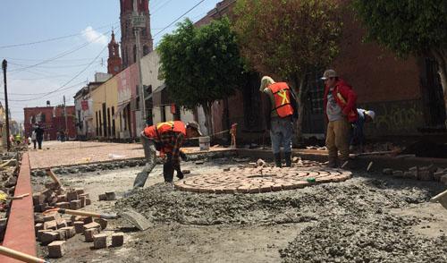 Avanza remodelación del Centro Histórico