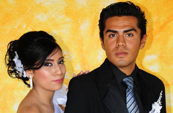 Katia y Jorge contraen matrimonio civil