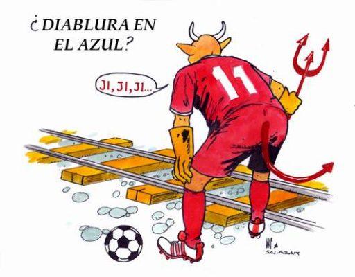 Hoy en el cartón de Salazar / ¿DIABLURA EN EL AZUL?
