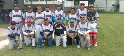 Cubs apalea a Ruckys en softbol de jubilados de Pemex Sección 24